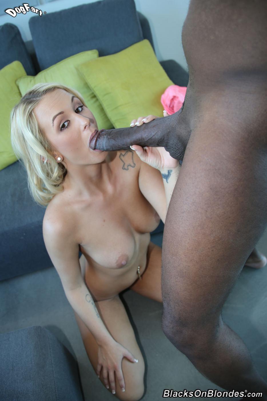Межрассовый секс блондинки Emily Austin и чрезвычайно огромного черного шланга